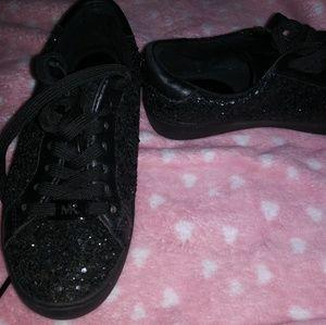 Michael Kors black glitter Irving sneakers